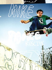 Mike's first pro ad!  - skate mag spread