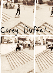 Corey Duffel giant ollie in China sequence ad.