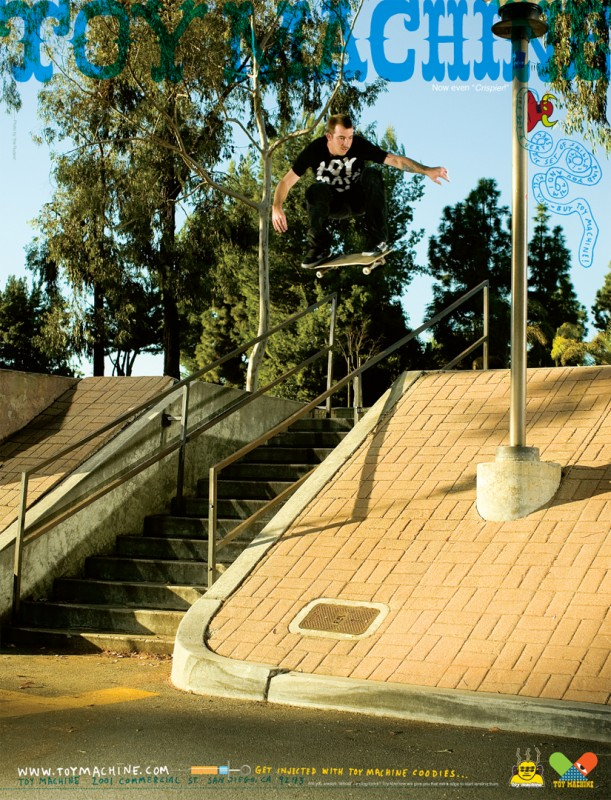 Johnny Layton Ollies over rail into bank