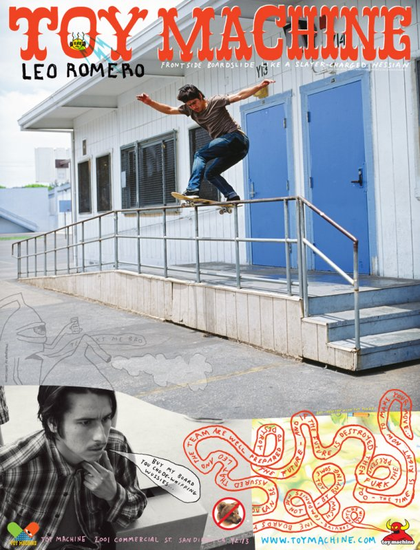 Leo Romero front boards a long bump to flat rail.