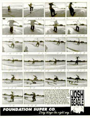 Josh Beagle: 22-Up - Another GSD layout. Big Black songs about fucking ripoff graphic. This was cutting edge skateboarding.